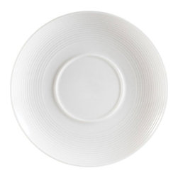 CAC China - Sushi Signature Pattern 5 1/2 Inch White Saucers - Case of 36 - DescriptionsC.A.C China provides durable dinnerware at all levelsincluding super white porcelain fine bone china American white chinacolored glaze china and Asian style china. C.A.C China offers a variety of innovative shapes from square rectangular triangular wavy to round that will brighten up any tables for modern trendy restaurants hotels resorts clubs caterers cruises etc. All C.A.C China products are oven microwave and dishwasher safe.
