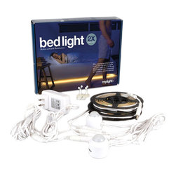 None - The Mylight LED Motion Activated Ambient Lighting Kit 2X - Never stub your toe on your bed with this LED motion activated light. Place this light underneath a bed, in your closet or any other hard to see places, helping you see when you really need it.