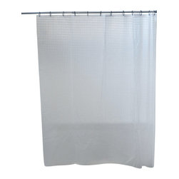 3D Acrylic 100% Laser Shower Curtain Transparent - This 3D laser shower curtain for bathrooms is in acrylic (100% laser) and allows to bring in useful light inside the shower. Reinforced grommets and header along the top make it durable enough for long-lasting satisfaction (12 shower rings needed, sold separately). It will fit perfectly in your shower or bathtub. Prior to hanging, immerse curtain in a bath of warm water to help remove creases. Cleaning with soapy water only. Width 71-Inch and height 79-Inch. Color transparent. This shower curtain is perfect to add a modern touch to your bathroom! Complete your decoration with other products of the same collection. Imported.