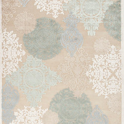 Jaipur Rugs - Machine Made Floral Pattern Art Silk/ Chenille Ivory/Blue Area Rug (7.6 x 9.6) - Every design tells a story with the Fables Collection. This broad range, crafted in machine-tufted viscose & ultra-soft chenille, brings any space to life with its fashion-forward color palettes. With options suited to many styles and aesthetics, Fables brings together a diverse collection of patterns ranging from sophisticated transitional to boldly scaled contemporary.