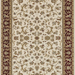 "Loloi Rugs - Loloi Rugs Welbourne Collection - Ivory / Red, 2'-3"" x 3'-9"" - The Welbourne Collection features a more traditional design with up-to-date colors and styles. Most notably, its densely woven construction contributes to the superior quality of this new power-loomed collection. There is a variety of sizes and color combinations available."