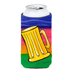 Caroline's Treasures - Beer Tall Boy Koozie Hugger - Beer Tall Boy Koozie Hugger Fits 22 oz. to 24 oz. cans or pint bottles. Great collapsible koozie for Energy Drinks or large Iced Tea beverages. Great to keep track of your beverage and add a bit of flair to a gathering. Match with one of the insulated coolers or coasters for a nice gift pack. Wash the hugger in your dishwasher or clothes washer. Design will not come off.