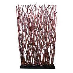 Groovystuff - Groovystuff Woodlands Base Lit Room Screen in Chocolate Lacquer - Features: