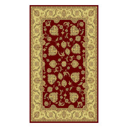 """Dynamic Rugs - Dynamic Rugs Legacy 58020-330 (Red) 6'7"""" x 9'6"""" Rug - Legacy is yet another superb collection with magnificent styling and priced to fit any budget. Legacy is densely Woven on wilton loom with high quality heat-set polypropylene that is anti-static with highest color fastness."""