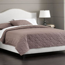 Skyline Furniture - Nail Button Bed w Foam Padding in White (Twin - Choose Size: TwinAdjustable legs. Plush foam padding. 100% polyester. Attaches to standard bed frames. Made in USA. Assembly required. Twin: 78 in. L x 41 in. W x 51 in. H (83 lbs.). Full: 78 in. L x 56 in. W x 51 in. H (83 lbs.). Queen: 83 in. L x 62 in. W x 51 in. H (100 lbs.). King: 83 in. L x 78 in. W x 51 in. H (117 lbs.). Cal king: 87 in. L x 74 in. W x 51 in. H (113 lbs.)