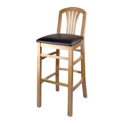 "Holsag - Alex 24"" Custom Counter Stool - The attractive design of the Alex counter stool makes this line a popular choice for dining and hotel rooms. The high back has four slats that curve upwards, providing excellent back support. The padded, upholstered seat is very comfortable. A choice of many different fabrics is offered or customer supplied fabric can be used. Features: -100% Solid European Beech Hardwood. -Comes in a wide variety of finishes and upholsteries. -Dimensions: 36"" H X 18.5"" W X 21"" D. -Seat Dimensions: 24"" H X 18.5"" W X 16.5"" D. -Fabric is a durable, easy-to-clean, synthetic material. Sherpa is a single color weave; shire a multi-color weave. Note -Finishes and fabrics may appear differently on this website than the actual finished product. About Holsag Holsag is a privately held family business that was founded in Switzerland in the early 1960s, and has since been serving the European market through offices in Sweden and Romania. Holsag Canada has been serving the North American market since 1990. Based in Lindsay, Ontario they have delivered product to all ten provinces and fifty states direct from the Lindsay warehouse. Quality Materials At Holsag, their chairs are made exclusively from 100% European beech hardwood. Their Canadian factory uses extra durable catalyzed lacquers, engineered to further protect against wear and flaking. Custom Craftsmanship At Holsag, they take pride in meeting and exceeding the unique demands of their clientele. They handle orders for custom finished and upholsteries. All chairs are backed by an extensive warrantly. Prompt Delivery Holsag takes pride in having shipped virtually every order during the past three years, within four weeks. Some of their more popular styles and colors can be shipped with a few days!"