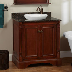 """30"""" Trevett Vanity for Semi-Recessed Sink - Cherry - The ideal vanity for any bathroom, the Trevett Vanity is an accommodating size with an extensive interior area for organizing bath accessories."""