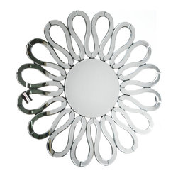 """Concepts Life - Concepts Life Accent Mirror  Sunburst - Inspired by the sun, our Sunburst Accent Mirror will bring radiant energy into your home. Hang this mirror above your bed and awake each morning in a luminous space. Ideal as an attention-grabbing accent mirror in your entryway or living room.  Modern mirror with black MDF backing; Dimensions: 36""""w x 36"""" h x 1""""d Weight: 20 lbs D hooks attached for hanging"""