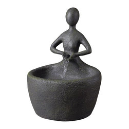 Kenroy - Kenroy 51007MSBZ Karma Tabletop Fountain - A quiet moment, a tranquil pose, Karma's transcendent awareness is embodied in this delightful tabletop fountain.