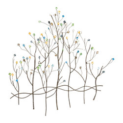 Holly & Martin - Lucie Wall Sculpture - Grace your wall with this decorative gem tree wall sculpture and you're sure to be mesmerized. The color variety among the gems is eye catching and the three dimensional metal construction of the sculpture is sure to be a focal point of any room.