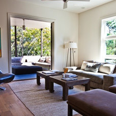 Beach Style Family Room by Cortney Bishop Design