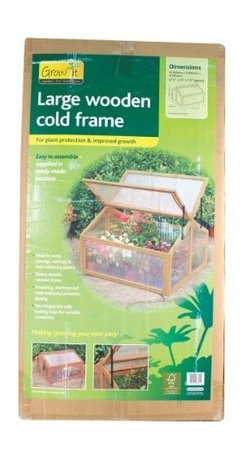 Gardman USA - Large Wooden Cold Frame - Large Wooden Cold Frame Greenhouse with FSC Timber has hinged door with latch bolt for fastening and locking stays for ventilation