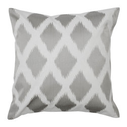 Diamond Ikat Pillow. Gray - This gray pillow adds a nice touch of pattern while staying in the subdued hue category.