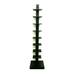 Proman - Spine Standing Book Shelves, Black - Spine Standing Book Shelves Black Beautiful Book Shelves providing display and storage space Adds style to your home and office The individual shelves. Space saver.Easy to assemble and install. Simple line design. Great.