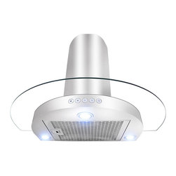 None - 36-inch Circular Design Stainless Steel Wall Mount Range Hood - Add refined and functional elegance to your kitchen with this wall mount circular design range hood.