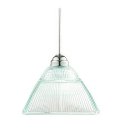 Hudson Valley - 1 Light PendantMajestic Square Collection - Majestic Square revives the commitment to innovative and attractive lighting design that was the American standard in the early 20th century. The collection's undisputed star is our prismatic glass shade. Like sparking sunrays, lively ribbons of light r