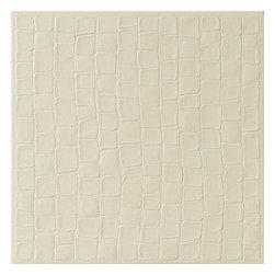 "Rex Matouche Crocodile - Ivory - 24""x24"" - Sold per Piece - Each Piece 4 Square Feet"