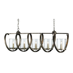 Rectangular Twist Chandelier