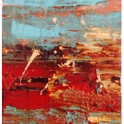 Turquoise Desert  (Original) by Ashley Villegas - Brings the warm southwest essence into any space.