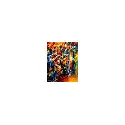 Leonid Afremov - Jazz Duo - Palette Knife Oil Painting On Canvas By Leonid Afremov - Oil painting on canvas