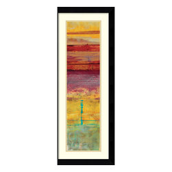 Amanti Art - Erin Galvez 'The Four Seasons: Summer' Framed Art Print 17 x 43-inch - With its delectable design and bright palette, 'The Four Seasons: Summer' will light up any space with vivid colors and fresh style.
