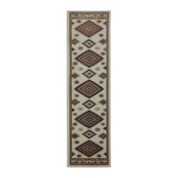 "American Rug Craftsmen - Southwestern/Lodge Woolrich Hallway Runner 2'1""x7'10"" Runner Shell-Dark Butter A - The Woolrich area rug Collection offers an affordable assortment of Southwestern/Lodge stylings. Woolrich features a blend of natural Shell-Dark Butter color. Woven of 100% Polypropylene the Woolrich Collection is an intriguing compliment to any decor."