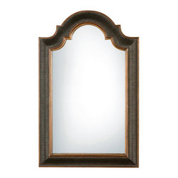 Uttermost - Arched Top Wall Mirror - Uttermost 01760 P Carolyn Kinder Ribbed Arch U MirrorCrackled black and gold finish.Features: