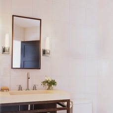 Transitional Bathroom by Littman Bros Lighting