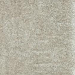 """Loloi - Loloi Vida Shag VS-01 (Ivory) 3'6"""" x 5'6"""" Rug - The handmade Vida Shag Collection from India features a sophisticated take on the hip shag construction. Vida Shags are handmade of 100-percent polyester with a choice of five luxurious trend-right colors: shimmery silver, smoky charcoal, soft taupe, rich plum and clean ivory."""