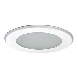 """Nora Lighting - Nora NT-5026 5"""" Flat Lens Shower Trim, Nt-5026w - *Housing and light bulb sold separately*"""