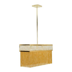 Inova Team -Orama Pendant Chandelier - Pendant, Gold finish and clear crystal