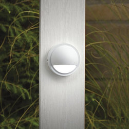 LANDSCAPE - LANDSCAPE 15064WHT Half Moon Outdoor Deck Light - Understated, modern style for deck or patio in a choice of contemporary finishes. Use with matching  path light (KCH-15360-AZT).