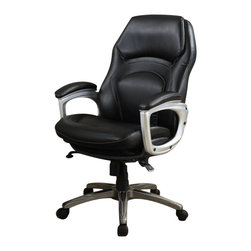 Serta by True Innovations - Serta Back in Motion Executive Office Chair in Black Bonded Leather - Serta by True Innovations - Office Chairs - 43521 - About This Product: