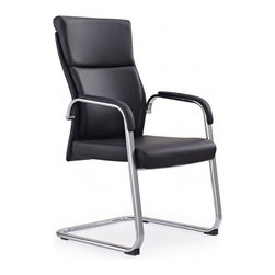 White Line Imports - Harvard Visitor Office Chair in Black - Features: