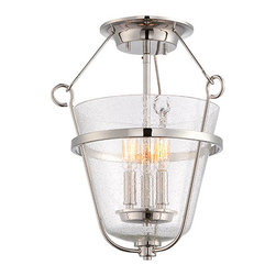 Nuvo Lighting - Latham Polished Nickel Three-Light Semi-Flush with Clear Seeded Glass - - Bulbs are included  - Bulb Socket Type: E12  - Shade: Clear Seeded Glass  - Warranty: 1 Year Limited Warranty Nuvo Lighting - 60/5288