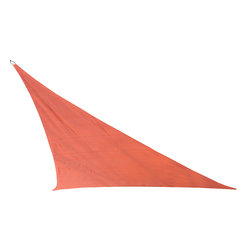 """Cool Area - Cool Area Right Triangle Oversized 16'5"""" X 16'5"""" X 22'11"""" Sun Shade Sail, Terra - Cool Area shade sail is a stylish and effective shade solution that fit most outdoor living space. You can creatively design your own little shady area in a courtyard, pool, gardens, childrens' play areas, car spaces, and even entry ways. The heavy duty Polyethylene material will keep you cool and out of the hot sun."""