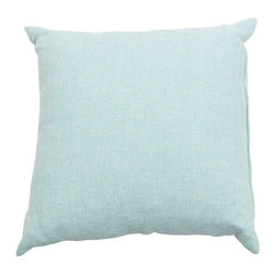 Light Teal Throw Pillow - A nice custom light teal throw pillow. We love the bright color - such fun!