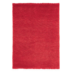 Velvet Felted Red Rug - Nanimarquina has extended its range of products with the launch of Basic: a line of rugs designed to meet the varied needs of fans of the brand's distinctive style. The Basic line offers six collections of rugs, creating an infinite combination of colour and texture, reminding us that everyone can create their own environment. Velvet is hand loomed from luxriously soft felted New Zealand wool. 10mm pile height (total pile height 12mm) and available in six different colours.