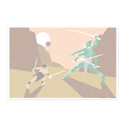 Postertext - A Princess Of Mars Art Print - Made Entirely With Text (Color) - This A Princess of Mars art print is created using the entire text from the book.