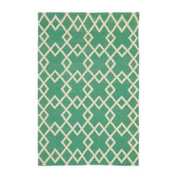 Crisscross Rug, Julep - I love the color and the geometric design of this rug.