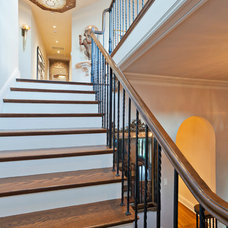 Traditional Staircase by Noel Cross+Architects