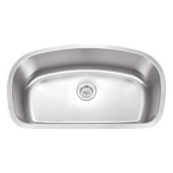"""Wells Sinkware - Wells Sinkware Grand Single Bowl SInk - 18 gauge undermount, Type 304 Premium stainless steel, Scratch resistant matte finish, Heavy duty sound absorbent coating & padding, Intelli-Pressed seamless one-piece construction, Drain openings: 3 1/2"""", Drain placement: offset towards back, Mounting hardware included, Flush or 3/16"""" reveal 2-in-1 cutout template, Limited lifetime warranty, Complies with ASMEA 112.19.3-2008/CSA B45.4-08"""