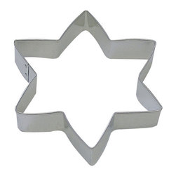 RM - Star Hanukkah Cookie Cutter - Star Hanukah cookie cutter, made of sturdy tin, Size 4.75 in., Depth 7/8 in., Color silver