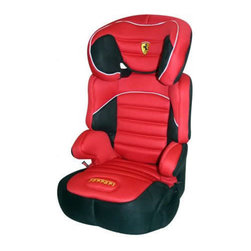 Ferrari - Dreamway Booster Seat - Features: -Car seat.-Deep side wings and wide seat to accommodate growing children.-Lab and shoulder belt required.-Seat back may also be removed to allow use as a ''no-back'' booster seat.-Made of durable blow-molded plastic.-Removable and washable fabric pad.-Height recommendation 33''-57''.-High back belt positioning booster includes adjustable headrest with shoulder-belt guides extending 6''.-Includes cup holder and extra side impact protection.-Distressed: No.-Country of Manufacture: France.
