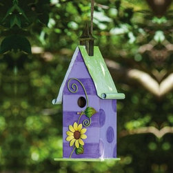 Spring Wishes Daisy & Stripes Decorative Bird House - The Spring Wishes Daisy & Stripes Decorative Bird House is most definitely for the birds. This charming bird house is made to last from durable wood and metal. You'll love the fun and quirky look and the birds will be loving their new digs.