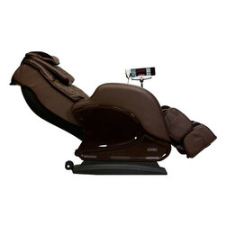 """Infinity IT-8100 Brown Zero G Full Body Massage Chair Recliner w/ Warranty - Features:- 6 Roller massage mechanism, performs kneading, tapping, shiatsu, pummel massage, etc: Kneading: five speeds,Tapping: five speeds and adjustable widths, Pummel: five speeds and adjustable widths, Wavelet (synchronized kneading & tapping): five speeds, Shiatsu: Width adjustable- 2 Rollers foot massage- Air pressure massage for head and neck (2 triple-layers air bags)- Air pressure massage for arms (4 air bags each side)- Air pressure massage for buttock and hip- Air pressure foot massage (total 14 air bags)- Seat vibration- Lumbar Heat- Extendable footrest, extends to 7.4"""" maximum- 3 year piece of mind warranty - parts and labor warranty - memory program setting SPECIFICATIONS: Upright:- Product Length: 31.0""""- Product Width: 21.6""""- Product Height: 36.8""""- Product Weight (lbs): 211lbsReclined:- Product Length: 47.8""""- Product Width: 21.6""""- Product Height: 25.4""""Max Weight Capacity: Approx. 330lbs Infinity Warranty"""