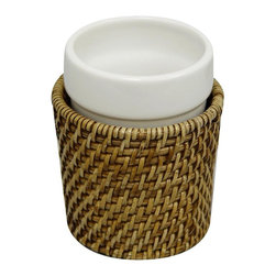 Elegant Home Fashions - Tumbler in Honey - Hana - Hand weaved. Honey finish. 3.375 in. D x 3.375 in. W x 4.5 in. HThis collection will add an elegant took that will bring a unique beauty to your bathroom.