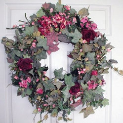 24-in. Rhapsody Floral Wreath
