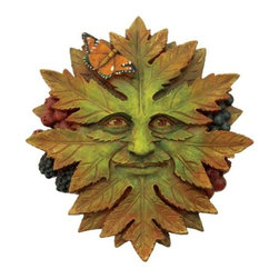 TLT - 5 Inch Hand Painted Resin Nature Face Greenman Wall Plaque - This gorgeous 5 Inch Hand Painted Resin Nature Face Greenman Wall Plaque has the finest details and highest quality you will find anywhere! 5 Inch Hand Painted Resin Nature Face Greenman Wall Plaque is truly remarkable.