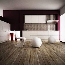Modern Home Theater by Interceramic